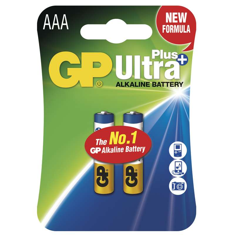 Alkalická baterie GP Ultra Plus LR03 (AAA), blistr 2Ks