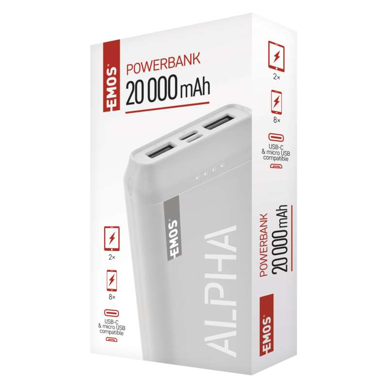 Power bank EMOS ALPHA 20000 mAh W