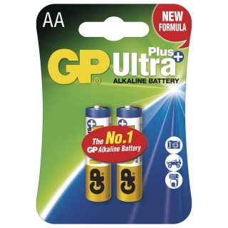 Alkalická baterie GP Ultra Plus LR6 (AA), blistr 2Ks